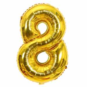 Ballon chiffre 8 ans