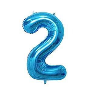 Ballons Anniversaire Chiffre Bleu Gold