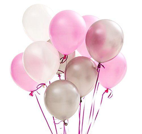 Sur Pinterest PuTwo Ballons Anniversaire Lot de 100 Ballon Hélium Latex Ballon Nacré