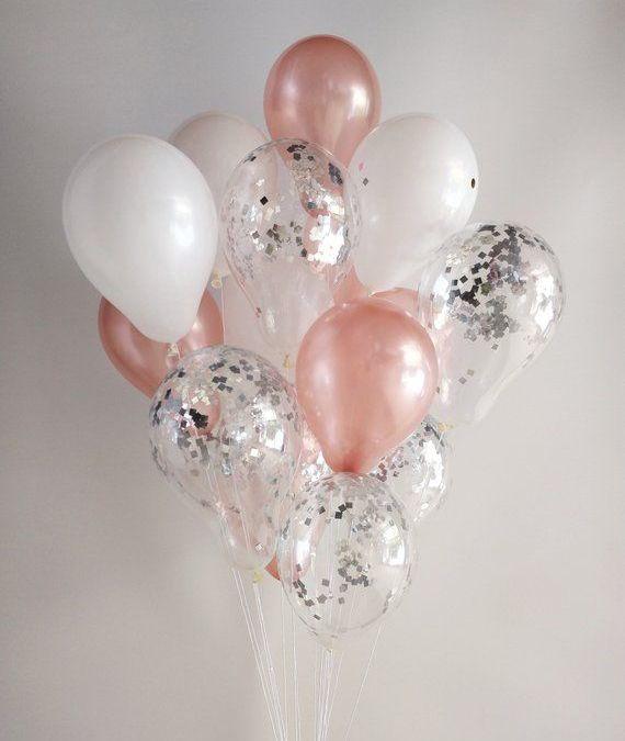 Sur Pinterest Rose Gold White Silver Confetti Rose Gold Balloons/ Confetti Balloons/ Hen doBalloon Bouquet set Balloon Garland 21st Birthday 30th