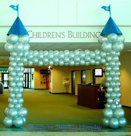 Sur Pinterest Castle Balloon Arch