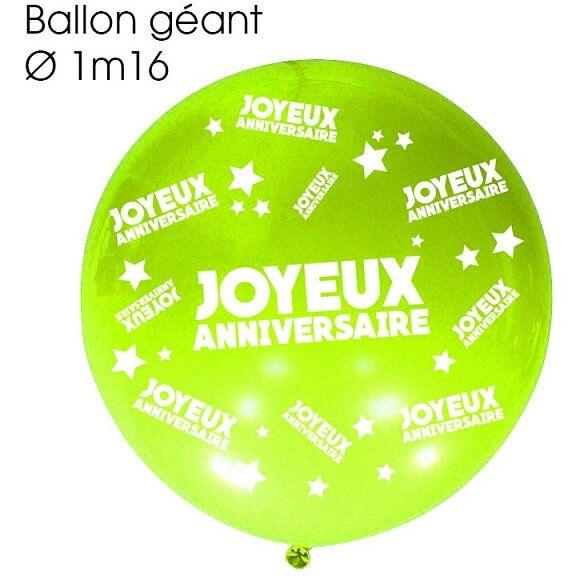Sur Pinterest Ballon géant anniversaire vert (x1) REF/BALGA00V