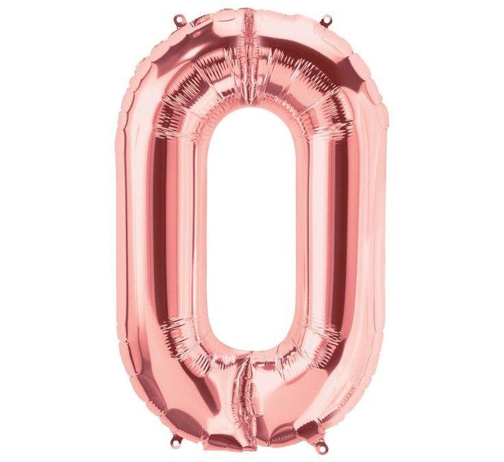 Sur Pinterest O Rose Gold Letter Mylar Balloon