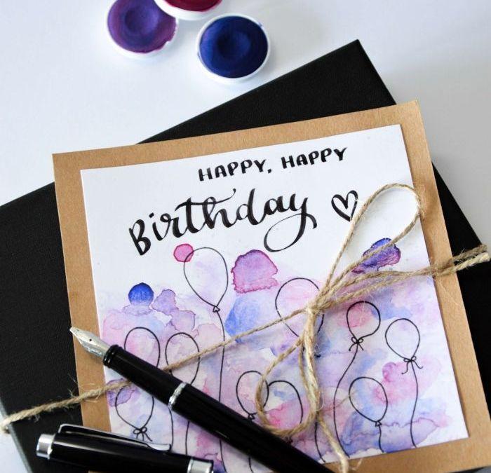Sur Pinterest ▷ 1001 + Ideas on how to design DIY birthday cards