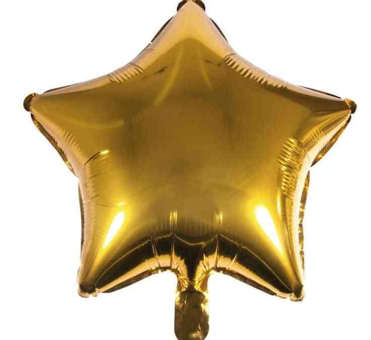 Sur Pinterest Ballon Aluminium – Etoile – Doré – 1 pce