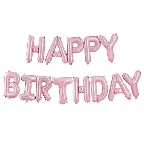 Sur Pinterest Happy Birthday Balloon Bunting Pink – Ginger Ray