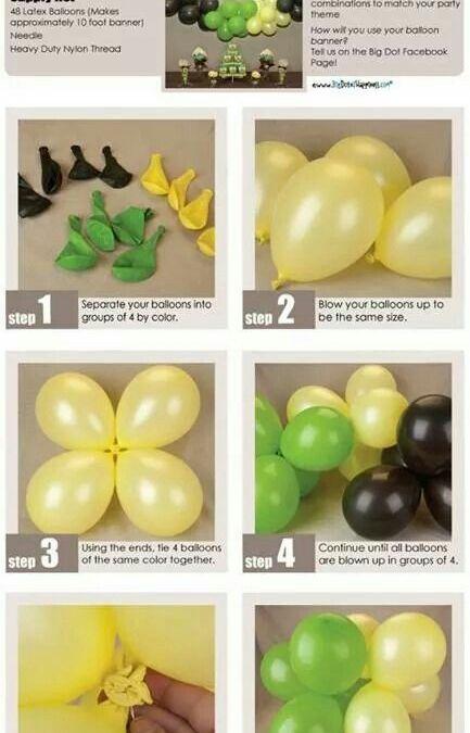 Sur Pinterest Balloon arch diy