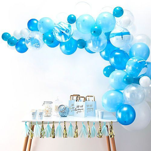 Sur Pinterest Ginger Ray Blue Balloon Arch Kit 72pc Party City