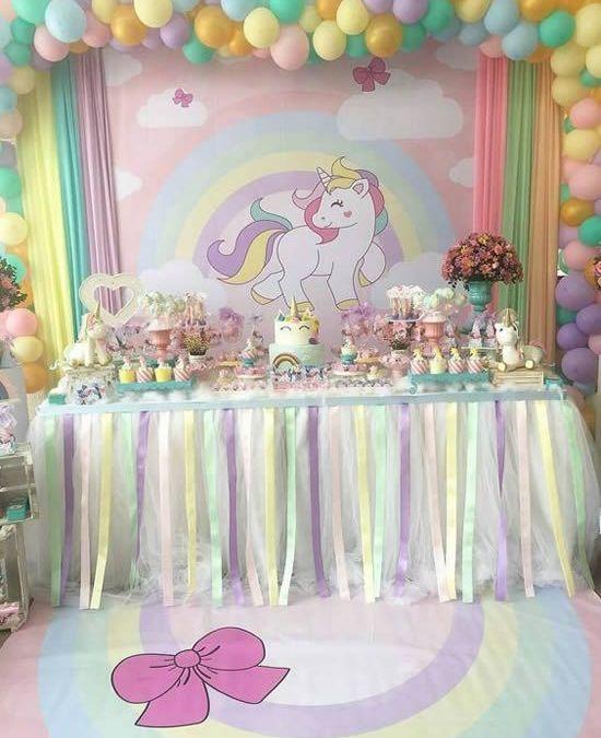 Sur Pinterest Decoração de mesa para festa unicórnio