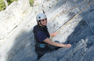 Marry-Anne rock climbing