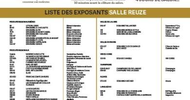 Liste des exposants