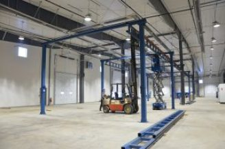 Relocation of overhead crane to new facility