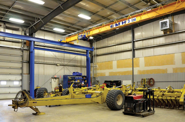EMH 3 ton overhead bridge crane farm implements