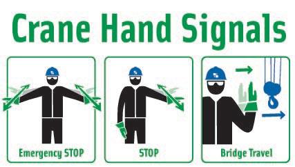 crane operator safety hand signals