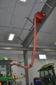 Vehicle exhaust reel smoke removal system tractors