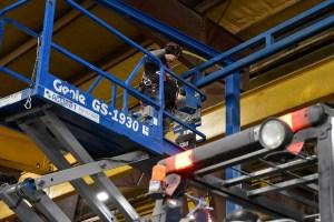 relocating a building crane system