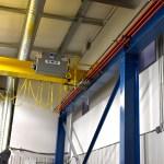 Festooning under control panel on stooled down beam