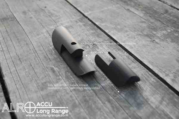 ACCU Long Range Cheek Rest Riser with easy bolt removal feature