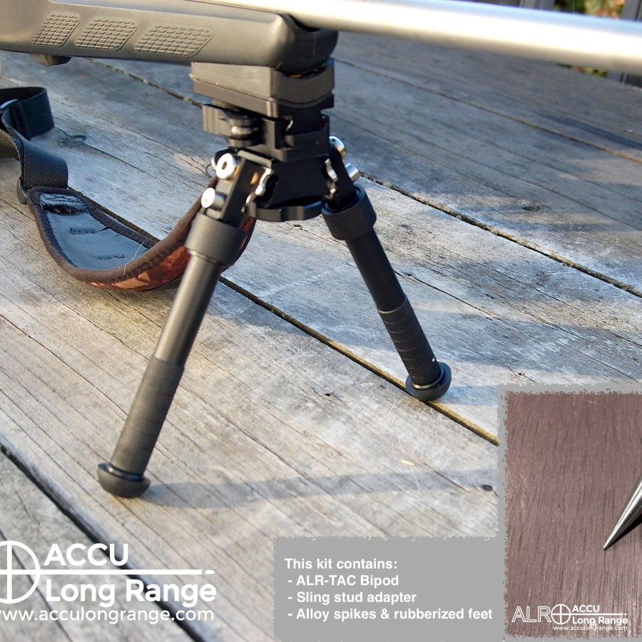 ACCU Long Range Bipod Sling Stud Picatinny style rail adapter 07