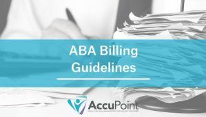 ABA Billing Guidelines