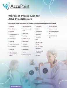 Words of Praise Resource