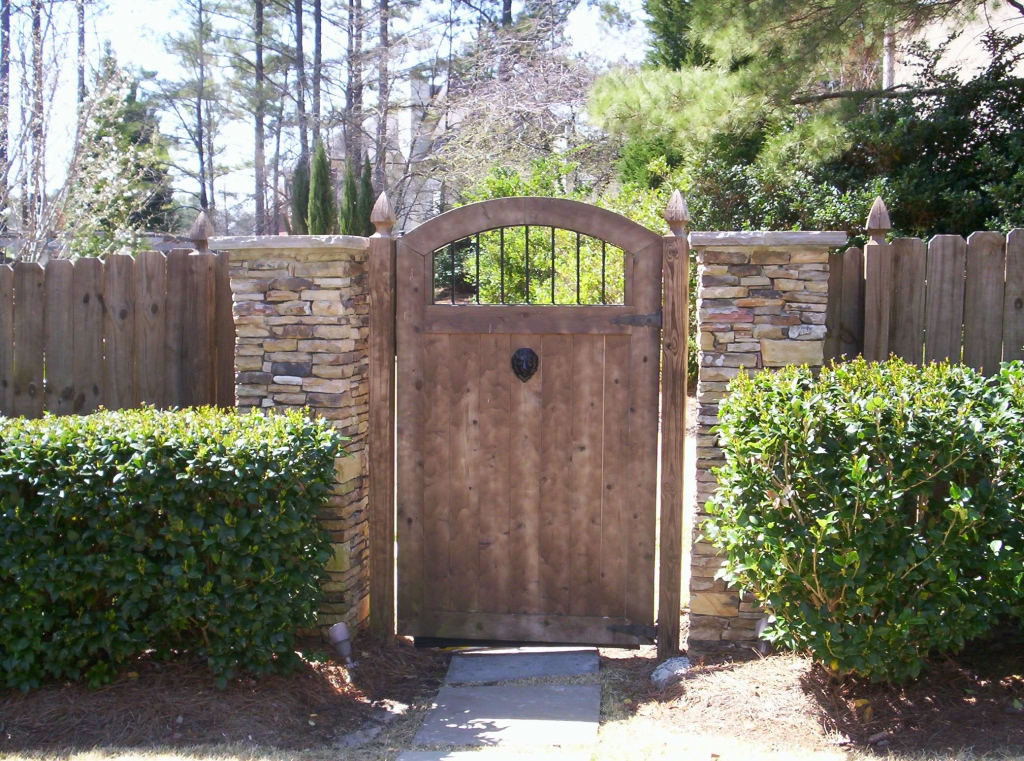 Custom Arched Wood Gate Accurate Fence Atlanta Fence