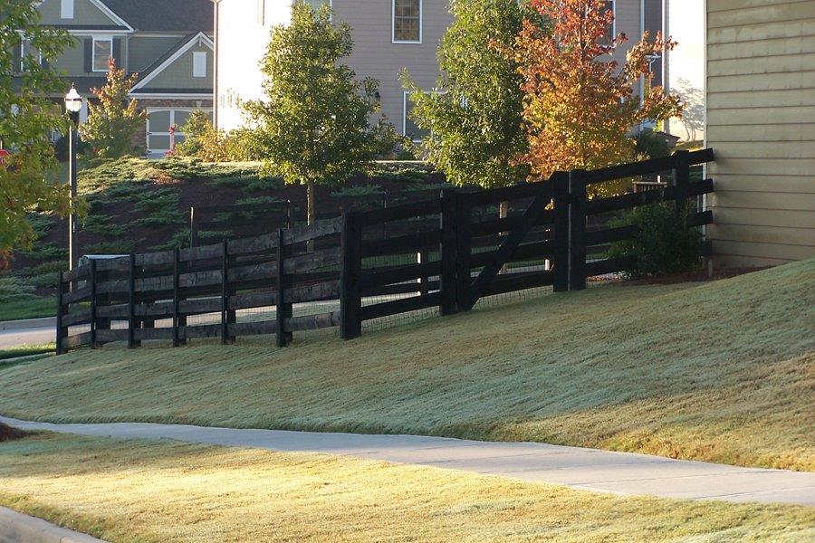 4 Rail Ranch Style W Walk Gate Accurate Fence Atlanta