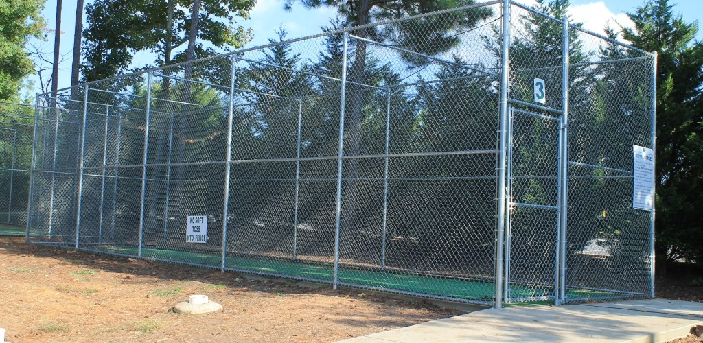 Enclosed Galvanized Batting Cage 1 Accurate Fence