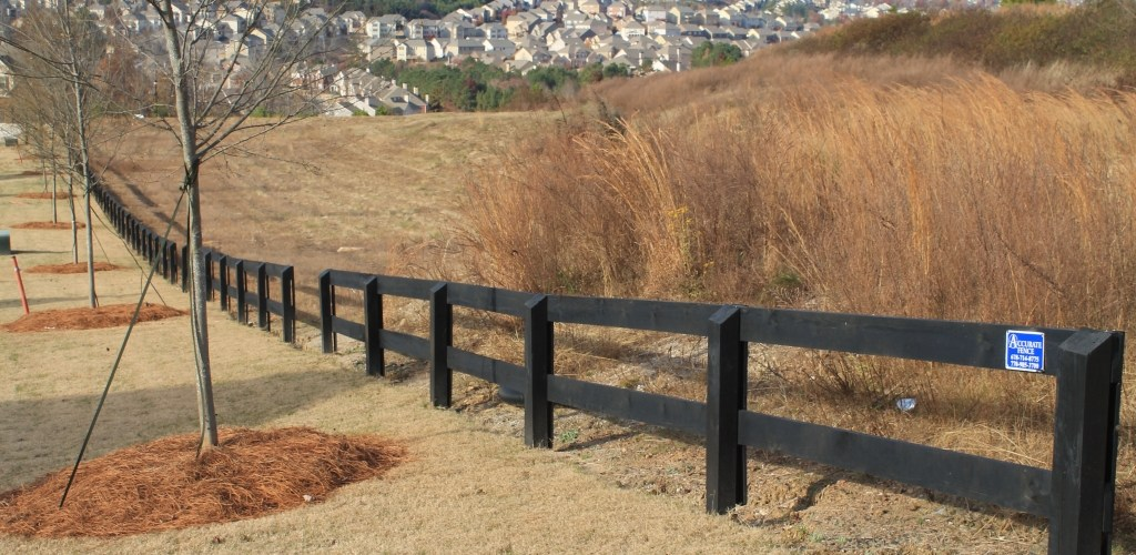 2 Rail Ranch Style Accurate Fence Atlanta Fence Company