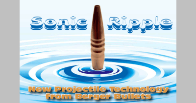 Berger Bullets Revolutionary Sonic Ripple Bullet