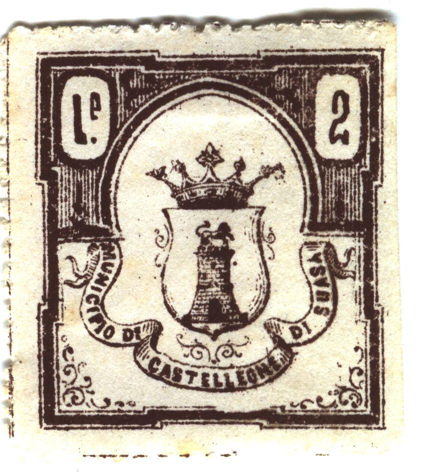 Il francobollo da 2 lire del 1890 di Castelleone di Suasa
