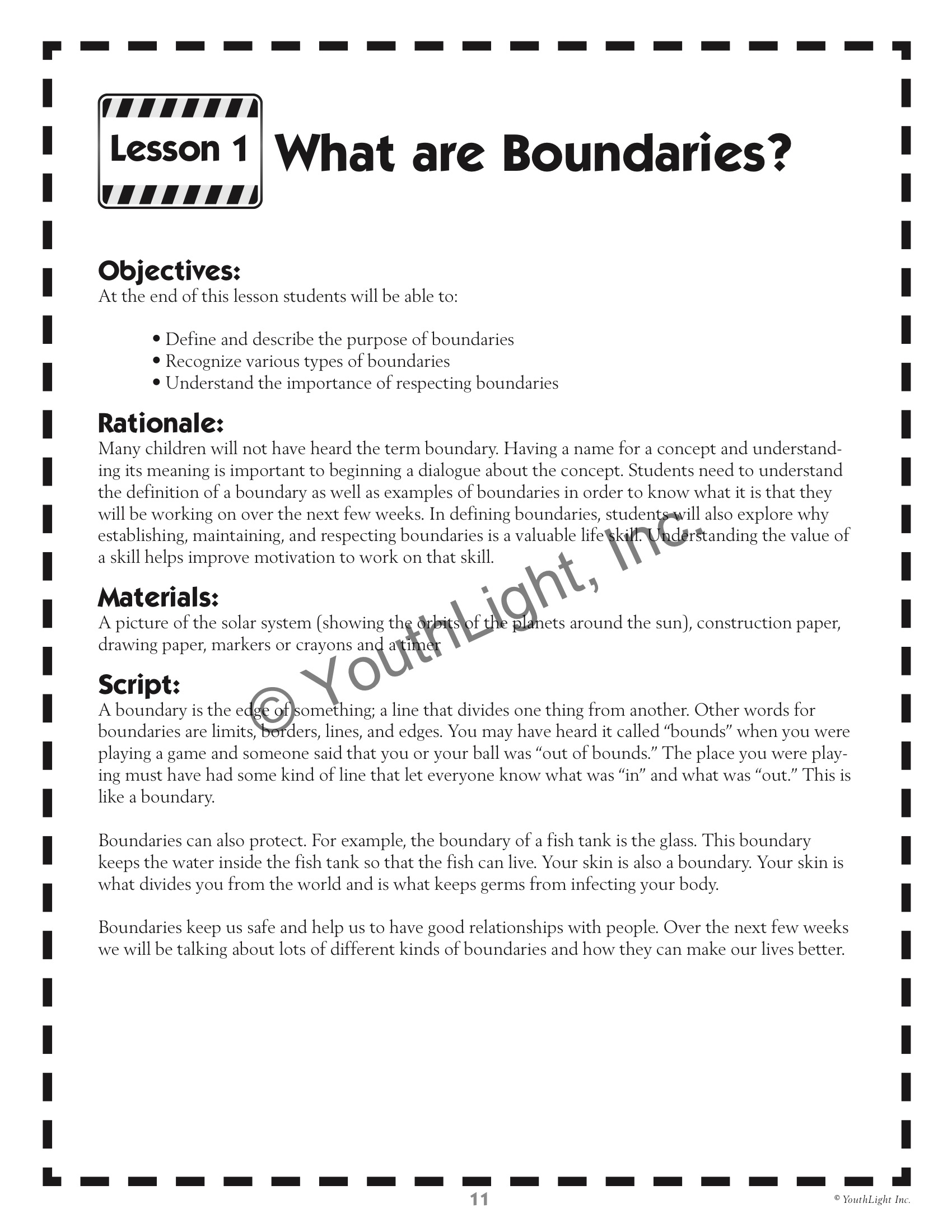 All About Boundaries By Tonia Caselman Ph D Amp Beth Cohen