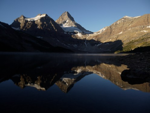 Lise Gagnon: Morning light on Mt Assiniboine
