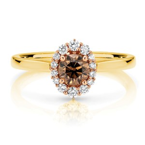Oval Illusion Chocolate Diamond Ring