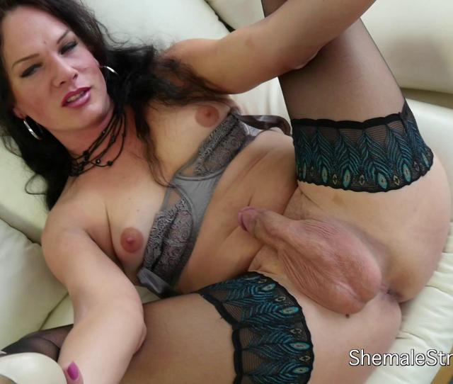 Sweaty Beautiful Milf Shemale Enjoys Her Body And Cock Passionately