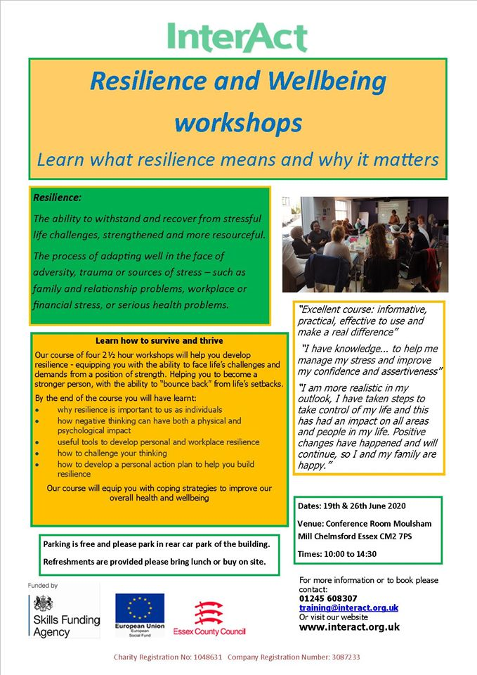 Resilience and Wellbeing workshop 1