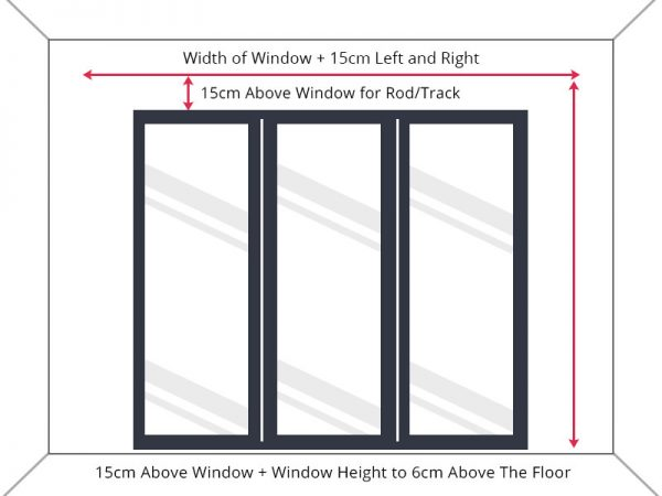 how to measure window for curtain rod