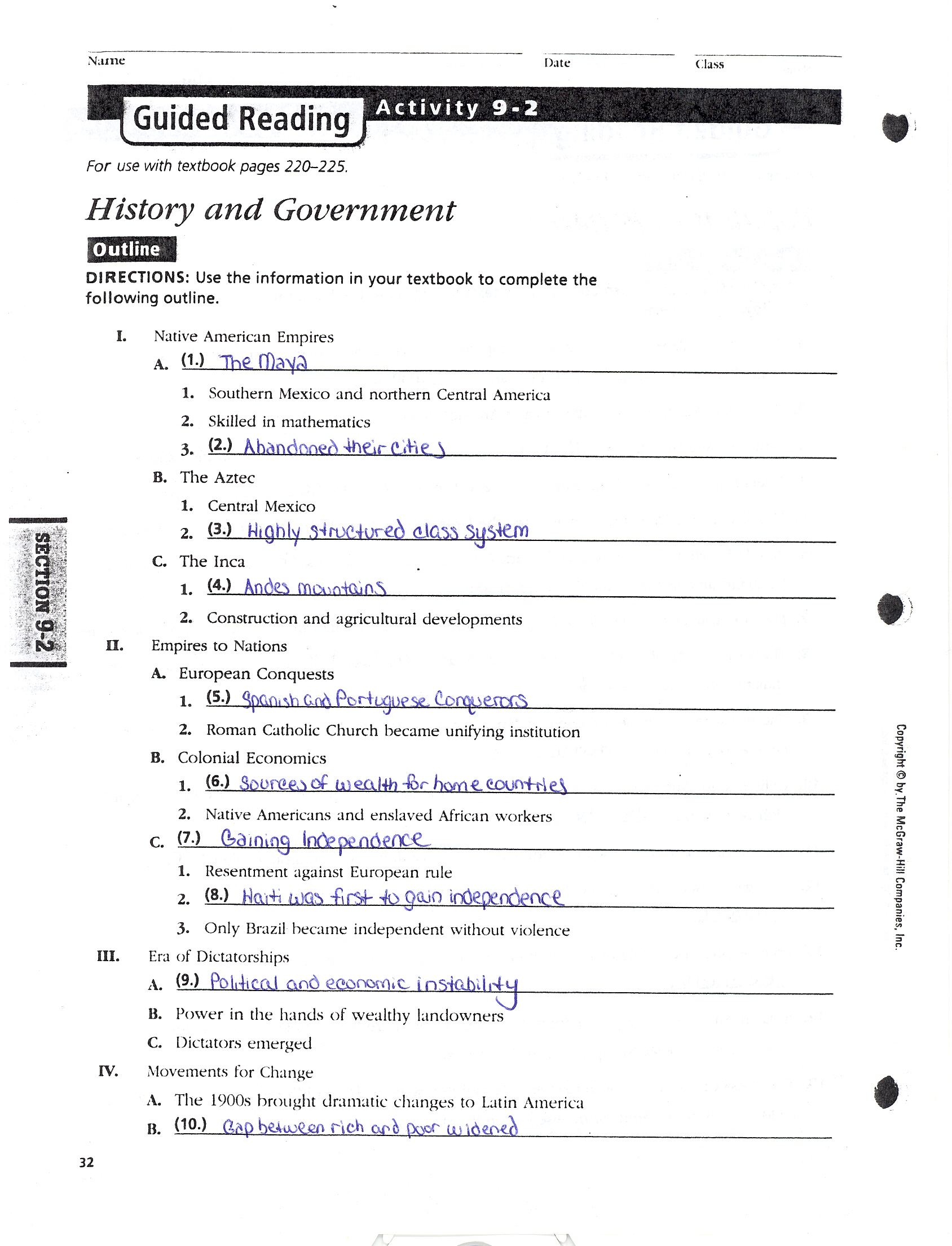 History Alive Chapter 11 Reading Notes