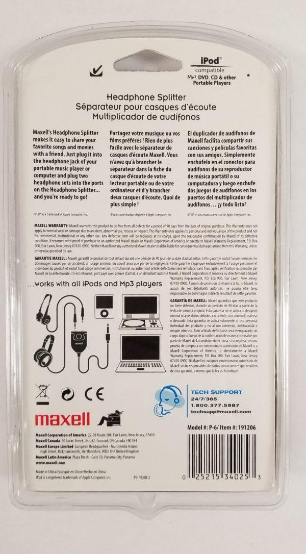 Maxell Headphone Splitter