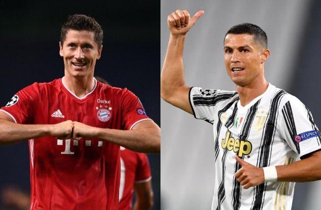 Lewandowski matches a Ronaldo Champions League goal feat