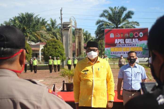 Bupati Aceh Singkil Dulmusrid Bersama Istri Positif Covid-19