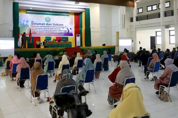 Yudisium Pascasarjana UIN Ar-Raniry Terapkan Protokol Kesehatan
