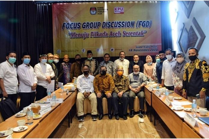 KIP Aceh Gelar FGD Bahas Pilkada Serentak 2022