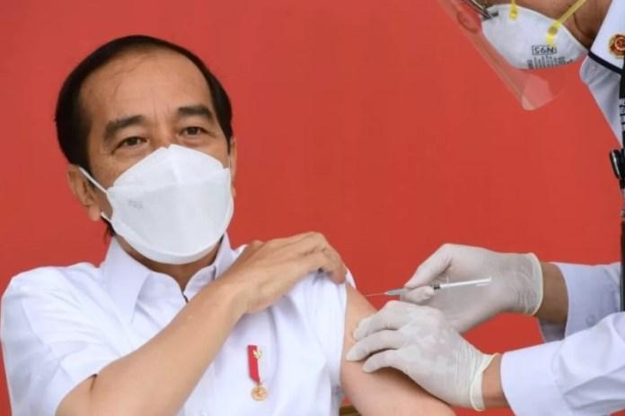 Presiden Jokowi Akan Terima Vaksin Corona Dosis Kedua Besok