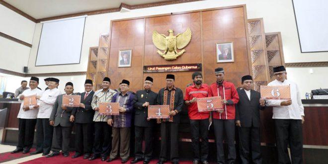 Nomor Urut Calon Gubernur Aceh
