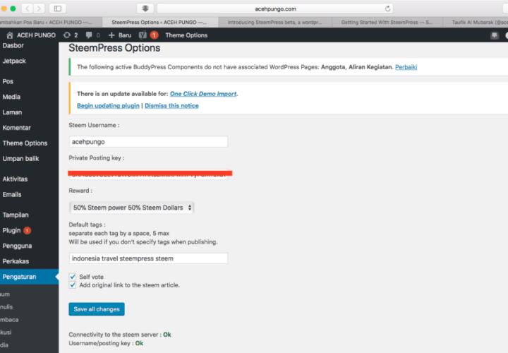 Menjajal Steempress: Plugin Steemit untuk WordPress