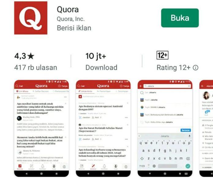aplikasi quora