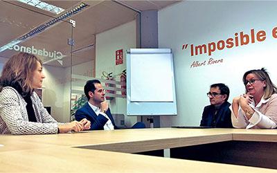 Reunión de ACEIM con Ciudadanos y PSOE