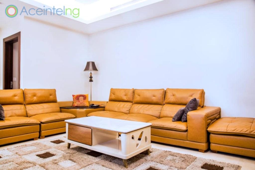 2 bedroom apartment for short let in Eko atlantic city - sofa
