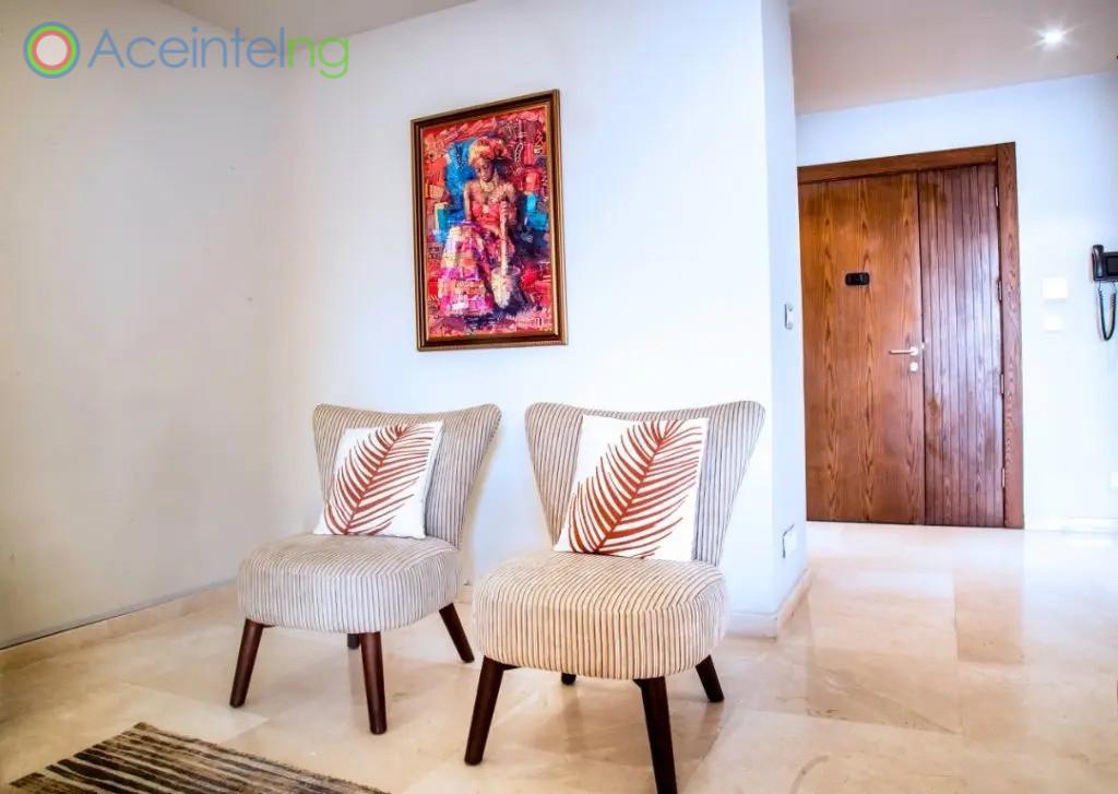3 bedroom apartment for shortlet in eko atlantic - eko pearl - chairs